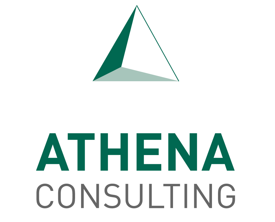 athena consulting logo design