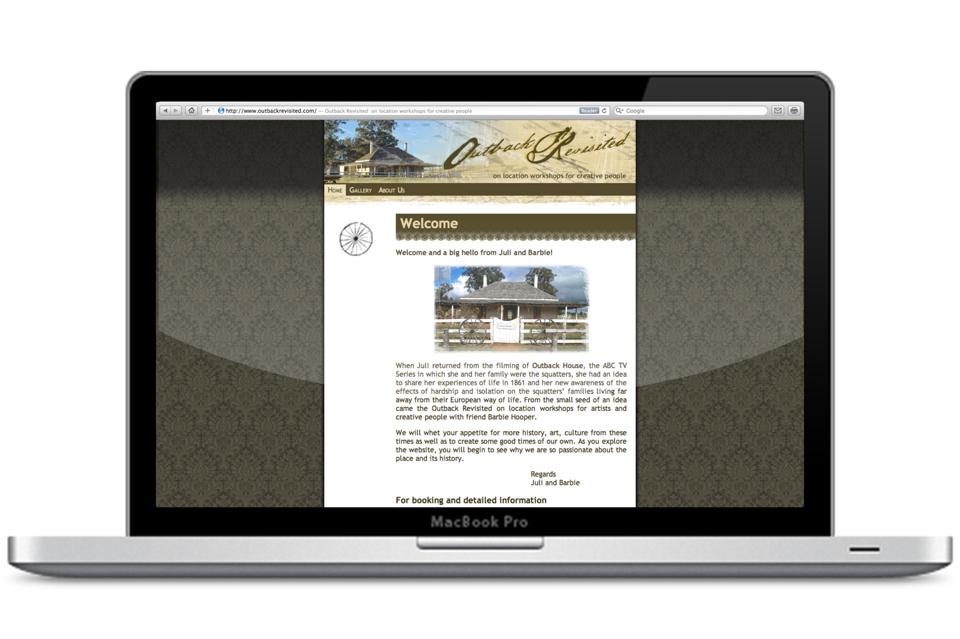 outback revisited website design