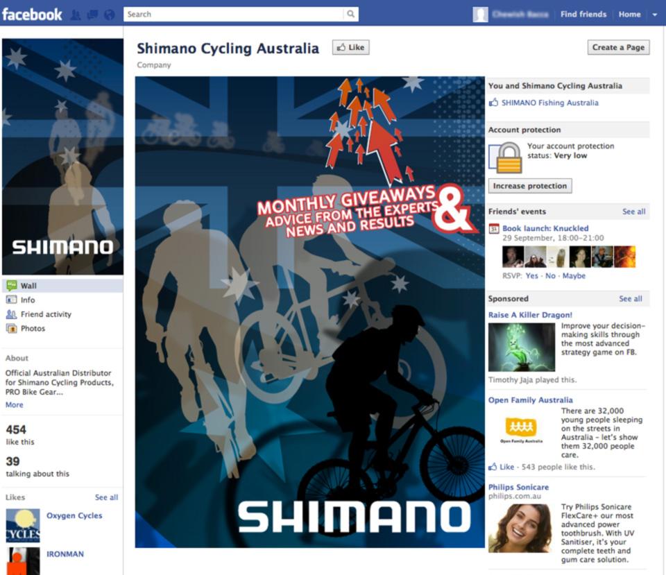 shimano cycling australia facebook page