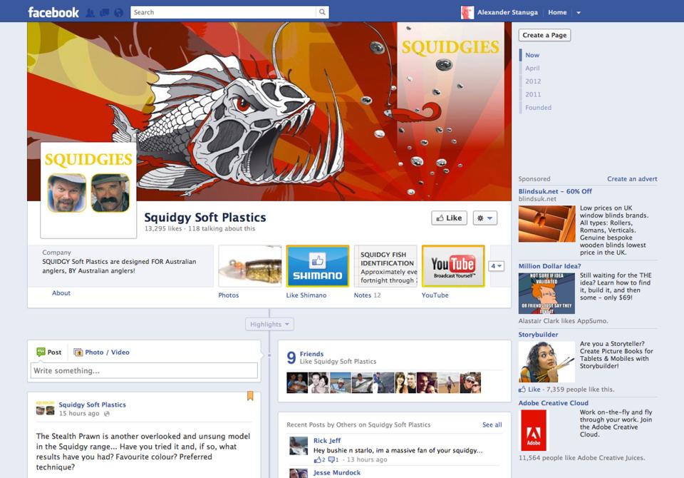 shimano squidgies facebook page