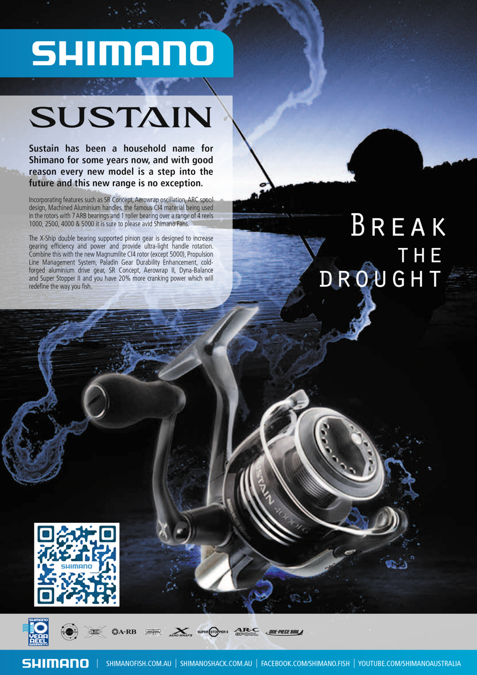 shimano sustain single page advert