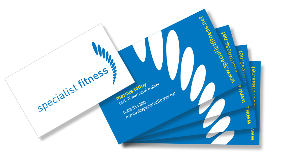 specialist fitness business cards