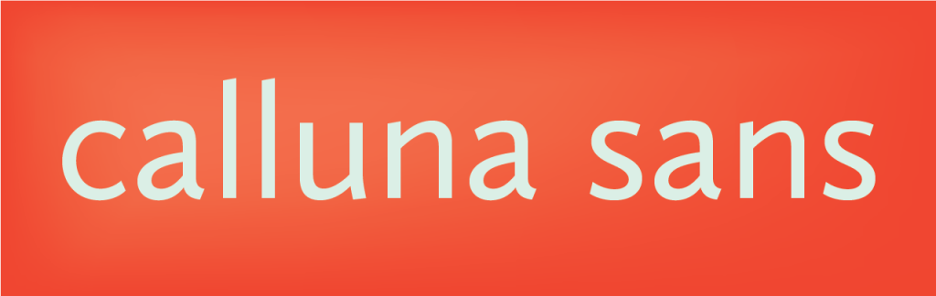 calluna sans font free