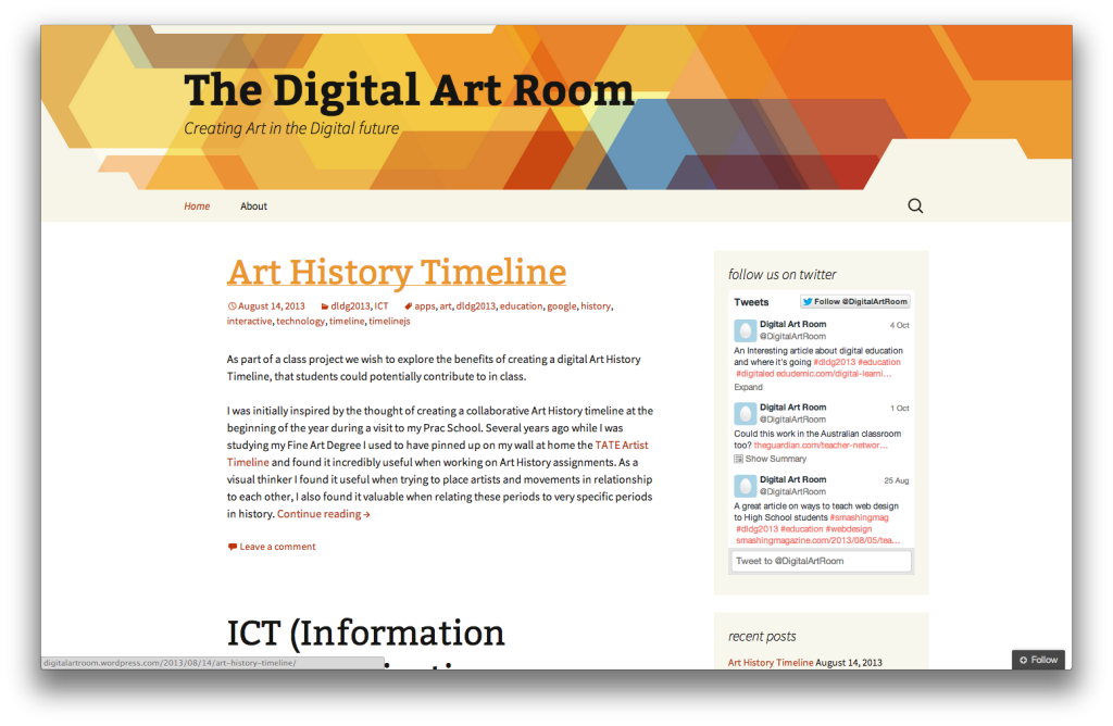 digital artroom on wordpress